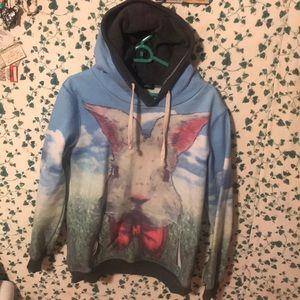 Alice in wonderland inspired hoodie. Poem on back